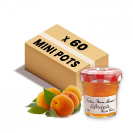 Confiture Bonne Maman - Mini pot en verre de confiture d'Abricot - 60x 30g