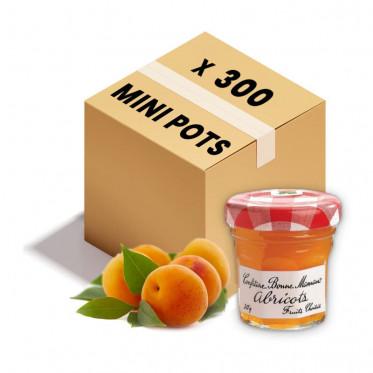 Confiture Bonne Maman - Mini pot en verre de confiture d'Abricot - 300x 30g