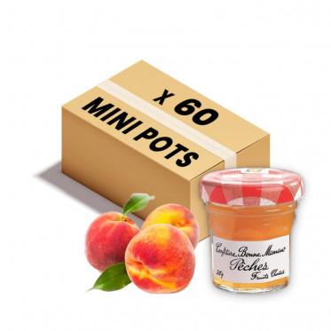 Confiture Bonne Maman - Mini pot en verre de confiture de Pêche - 60x 30g
