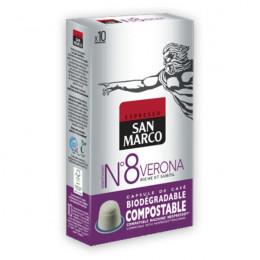 Capsules Nespresso compatible - biodégradable et compostable - N°8 Verona - San Marco - 10 capsules