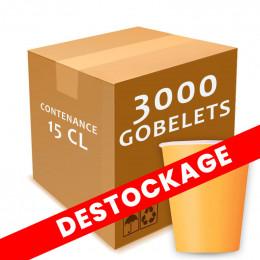 Gobelet en carton 15 cl - par 3000 - FIN DE SERIE