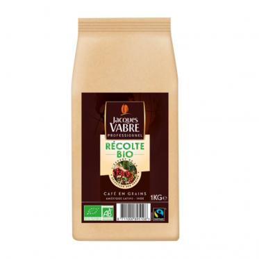 Café en grains bio Jacques Vabre Professionnel Récolte Bio –1 kg