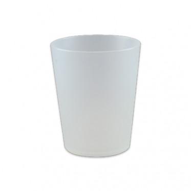 Gobelet réutilisable 10 cl - Translucide givré - par 10
