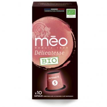 Capsule Nespresso Compatible Cafés Méo Délicatesse - 10 capsules