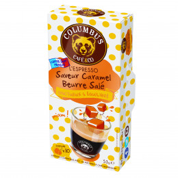 Capsule Nespresso Compatible Café Saveur Caramel Beurre Salé - Columbus Café - 10 capsules