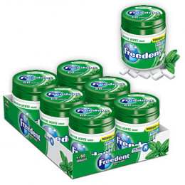 Chewing-gum Freedent Menthe Verte - Lot de 6 Box 84g - 360 dragées
