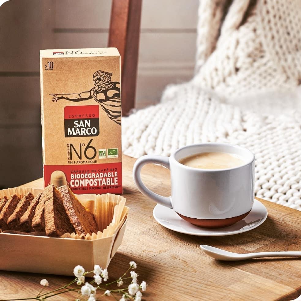 Capsule Nespresso San Marco n°6 bio et biodégradable