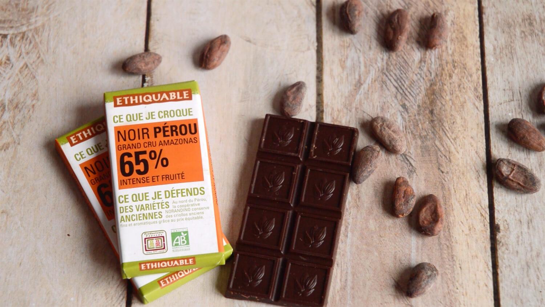 Chocolat Ethiquable noir grand cru