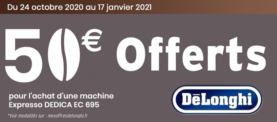 50€ offert sur la machine dedica style 695