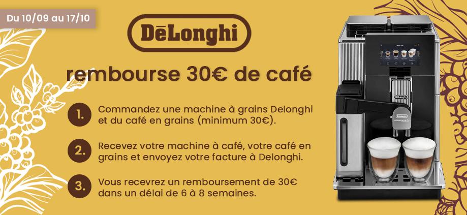 Delonghi rembourse 30€ de café