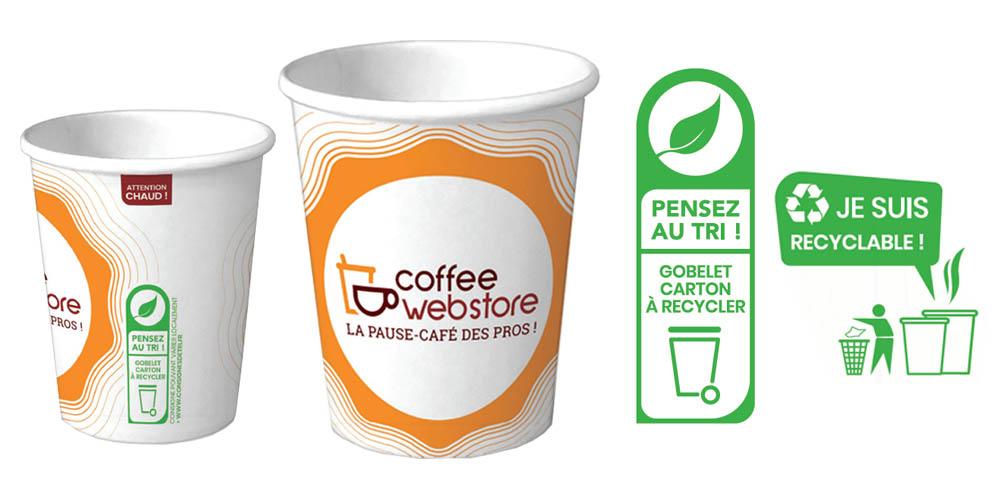 Gobelet Coffee Webstore - Gobelet écologique en carton recyclable