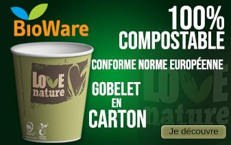 Découvrez notre large gamme de gobelets compostables et écologiques
