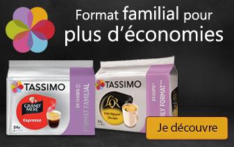Découvrez toutes nos offres de dosettes Tassimo pas cher en format familial