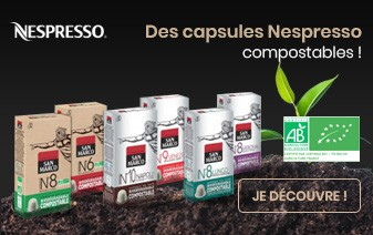 Capsules Nespresso compostables et biodégradables